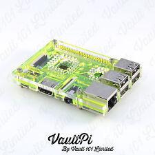 Custodia in Acrilico Verde per Raspberry Pi 3 modello B vaultpi