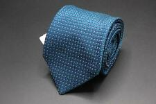 NWT $250 TOM FORD Tie. Blue/Green Geometric w White Polka Dots.