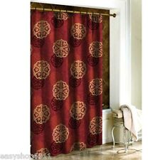 NEW Cameo Oriental Asian Red Gold Shanghai Fabric Shower Curtain