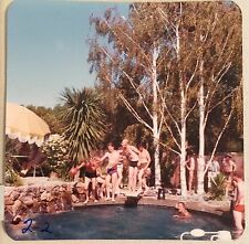 Vintage Photograph Men At A Backyard Pool Party Gay Interest 1970s