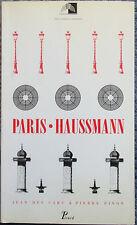 J des Cars - P. Pinon - PARIS-HAUSSMANN - Pavillon de l'Arsenal - 1991