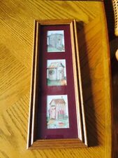 Adorable 3 Outhouse Print Mat and Framed Picture Perfect
