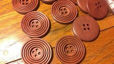 Job Lot Wholesale 15 Large Natural Medium Wood Fancy Round  Buttons 4  13cm