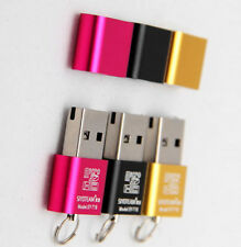 Brand New Mini Size up to 480Mbps Micro SD TF T-Flash Card Reader Adapter USB2.0