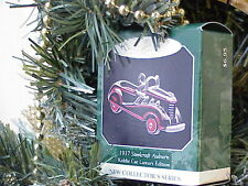 NIB 1998 Miniature Steelcraft Auburn Kiddie Car Hallmark Xmas Ornament xo0495