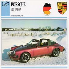 1967 PORSCHE 911 TARGA Classic Car Photo/Info Maxi Card