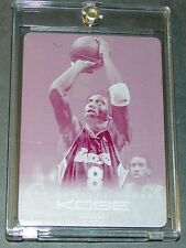 2012-13 PANINI KOBE BRYANT ANTHOLOGY BASE MAGENTA PRINTING PLATE #42 SERIAL #1/1