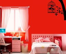 Wall Stickers Vinyl Decal Bird Cage Wood Nature Love Heart ig118