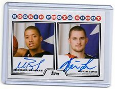 2008-09 Kevin Love/Michael Beasley Topps DUAL PHOTO SHOOT AUTO RC (E9)