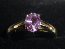 ~9K BEAUTIFUL RARE 9K CEYLON PURPLE SAPPHIRE GOLD RING CERT OF AUTHENTICITY ~ N