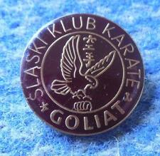 GOLIAT KATOWICE POLAND KARATE KYOKUSHIN KYOKUSHINKAI CLUB BRONZE VERS. PIN BADGE