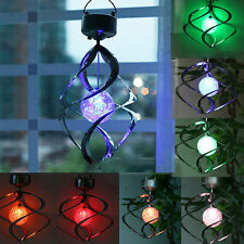 Quality Solar LED Outdoor Wind Spinner LED Light Garden Courtyard Hanging Lamp