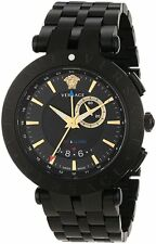 Versace Men's 29G60D009 S060 V-Race Black Dial Black IP Stainless Steel Watch