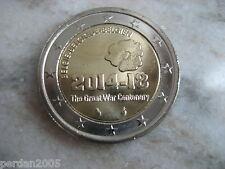 BELGIO 2014 2 EURO FDC UNC 100° INIZIO PRIMA GUERRA MONDIALE BELGIUM BELGIEN