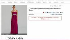 Calvin Klein Rich Ruby Dress Style CD4B2ZRZ 2014
