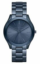 Michael Kors Slim Runway Quartz Navy Blue-tone Laides Watch MK3419