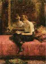 Harlamoff Alexej Literary Pursuits Of A Young Lady A4 Print