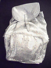 Backpack Sequined Iridescent Bling Handbag Women Girls School Gym Book Dance Bag