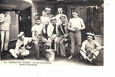 WW1 French Cooks On Ship  Marine  De Guerre - A Bord d'un Cuirasse