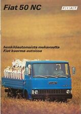 Fiat 50 NC Truck Mid 1970s Original Finnish Sales Brochure No. 3581