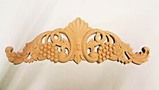 "12"" Maple Wood Hand Carved Onlay Home Accent Applique"