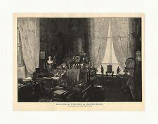 Kaiser Wilhelms I. Schreibtisch am historischen Eckfenster Holzstich M 855