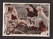 George Raft Dolores Costello Barrymore Yours for the Asking 1936 Cigarette Card