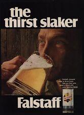 """1968 FALSTAFF Beer - """"The Thirst Stalker"""" -  VINTAGE AD"""