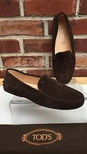 TOD's Brown Suede Driving Moccasin Loafer Italy Woman's 7 * New RARE!