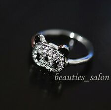 1Pc Shiny Rhinestone Panda Design Ring Women Finger Rehinstone Ring Jewelry