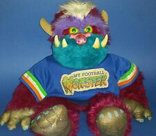Vintage Rare My Pet Football Monster Stuffed Animal