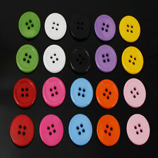 100 Pcs Plastic 4 Holes Round Buttons 2cm Mixed Colours Sewing Embellishment DIY