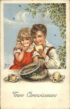 Child Eat Cheese - Swiss Gruyere Chalet Cheese Tin Emaison Kurt Postcard