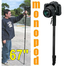 "67"" Digital Camera DSLR Monopod Tripod Walking Stick For Nikon Canon Sony Pentax"