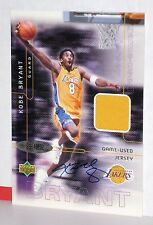 2001 Upper Deck KOBE BRYANT Game Used Autograph Jersey Card 67/150 UDA Auto COA