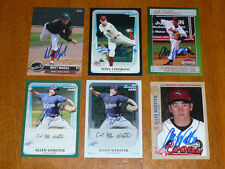 ALLEN WEBSTER Signed 2010 MWL Midwest League All Star Autograph Red Sox AUTO