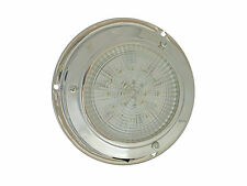 12V LED ROUND DOME INTERIOR CEILING LIGHT, SS HOUSING -BOAT & RV- FIVE OCEANS