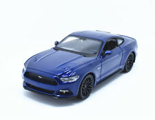 Maisto 1:24 2015 Ford Mustang GT Diecast Metal Model Roadster Car Blue