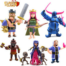CLASH OF CLANS/ LOTE 8 FIGURAS 5-14 CM-SET 8 PCS KING ARCHER PEKKA QUEEN WITCHES