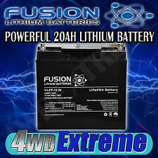 12V FUSION 20AH LITHIUM ION POWERFUL BATTERY  DEEP CYCLE REPLACE AGM V-LFP-12-20