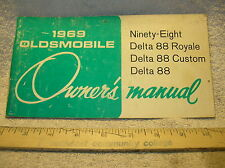1969 Oldsmobile 98 / 88 Owners Manual - Good Used