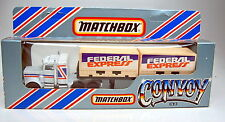 "Matchbox Convoy CY3 Peterbilt Double Container ""Federal Express"" top in Box"