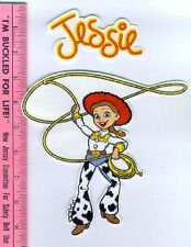 JESSIE with lasso and name iron-on FABRIC appliques TOY STORY Jesse NO SEW 2 pcs