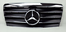 Mercedes E Class W124 94-95 4 Fin Front Hood Sport Black Chrome Grill Grille