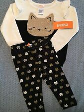 Gymboree Baby Girl 6-12m Cat Theme NWT Free Shipping