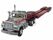 MACK R WITH TRI-AXLE LOWBOY TRAILER SILVER 1/64 MODEL TRUCK FIRST GEAR 60-0268