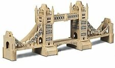 Tower Bridge: Woodcraft Quay Construction Wooden 3D Model Kit P055 Age 7 plus