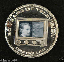 Cook Islands $1 Dollar Commemorative Coin 2006 UNC, 80 Years Of Television