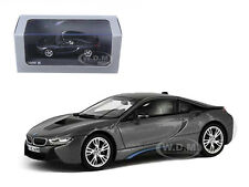 BMW i8 GREY WITH BLUE 1/43 DIECAST MODEL CAR BY PARAGON 91051