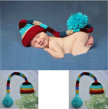 2014 Newborn Baby Infant Knit Sweater Crochet Photography Prop Hats fit 0-9M +A
